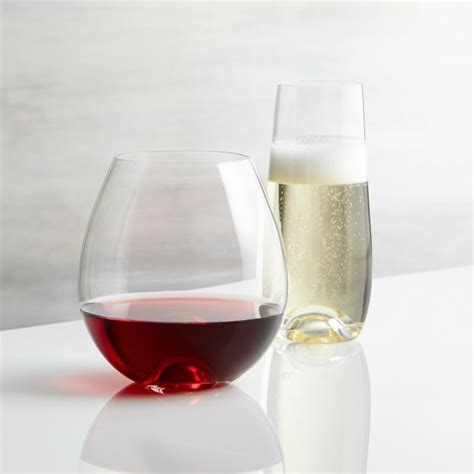lulie stemless wine glasses crate  barrel