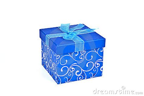 christmas gift box  blue paper royalty  stock