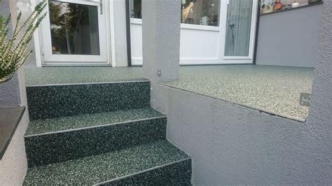 steinteppich treppe außen steinteppich quartz stein thun steinteppich in nrw