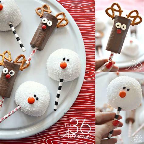 christmas treats reindeer  snowman   avenue