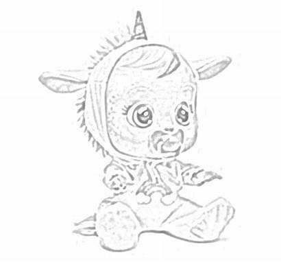 Cry Babies Coloring Pages Tears Dolls Interactive