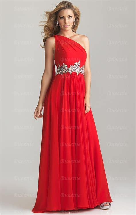 cheap red bridesmaid dress   shoulder wedding