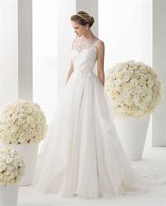 Chiffon tank top a line wedding dress with chapel train for Tank top wedding dresses