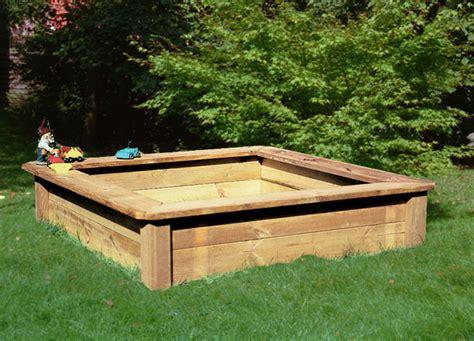 Sandkasten Aus Holz 130x130 Cm Spielplatzshopde