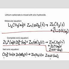 Molecular, Complete Ionic, And Net Ionic Equations  Science, Chemistry, Chemicalreactions, Net