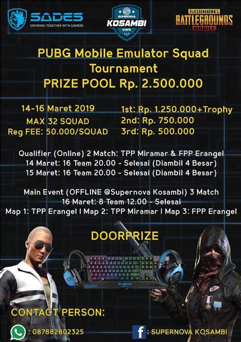 pubg mobile emulator squad tournament sades