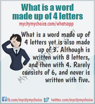what is a word made up of 4 letters what is a word made up of 4 letters whatsapp puzzle answer 72200
