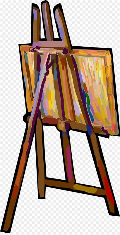 Easel Clip Canvas Clipart Transparent Painting Staffelei