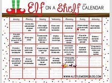 Elf on the Shelf 2014 Calendar A Little Moore