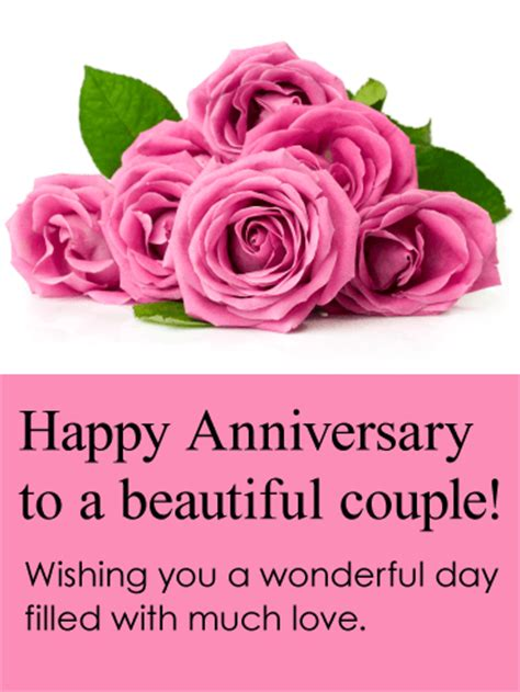 Beautiful Happy Anniversary by To A Beautiful Happy Anniversary Card Birthday