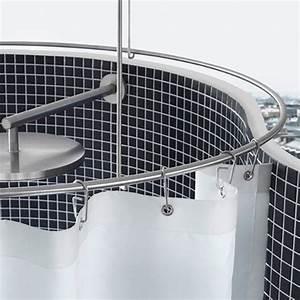 Duschstange U Form : duschstange rund 90cm durchmesser einfach gute duschvorh nge ~ Sanjose-hotels-ca.com Haus und Dekorationen