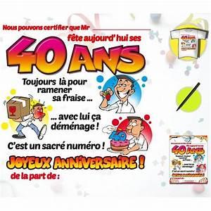 Cadeau Homme 40 Ans : tee shirt anniversaire 40 ans homme id e cadeau tralala ~ Teatrodelosmanantiales.com Idées de Décoration