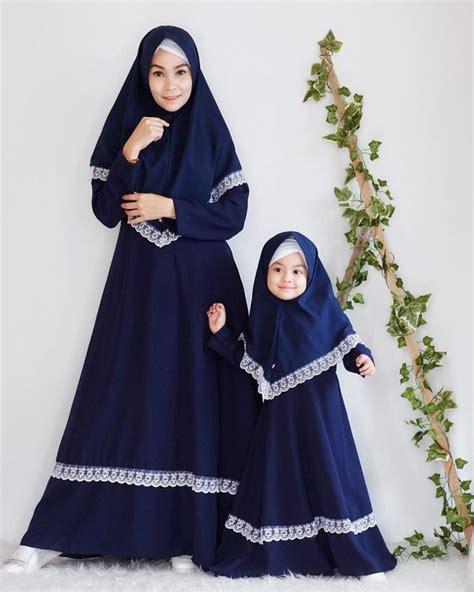 model gamis couple ibu  anak muslim couples