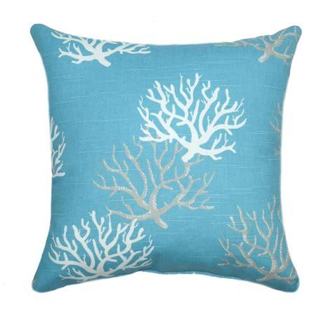 coordinating throw pillow for premier prints isadella coral coastal blue decorative