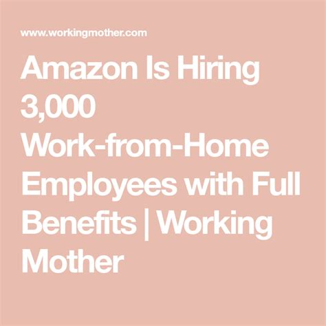 work workingmother benefits