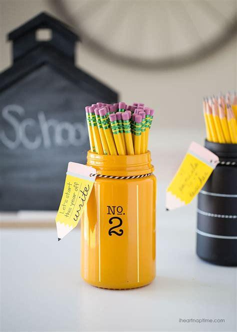 pencil jar teacher gift idea   printable  heart