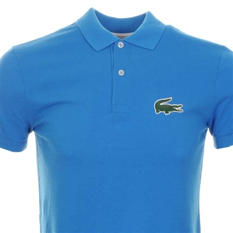 Lyst - Lacoste Rubber Croc Polo T Shirt Blue in Blue for Men