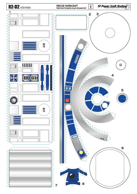 R2d2 Printable Template by R2 D2 Papercraft R2dto