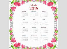 Aquarell blumig bunte 2018 Kalender Download der