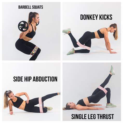 glute bands squat barbell muscles thrust hip kettlebell