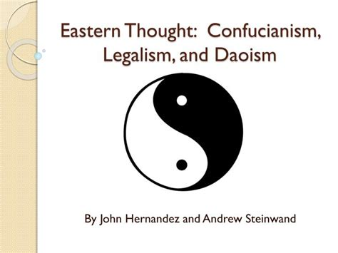 Confucianism Taoism Essays by Confucianism And Taoism Essay