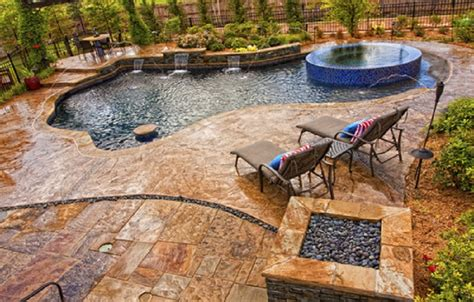 cement deck ideas concrete sted with a slate skin pattern in pool deck how to stain concrete patio concrete