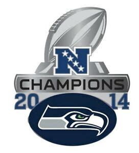 official nfl  nfc champions seattle seahawks pin ebay