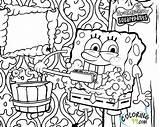 Spongebob Coloring Pages Squarepants Printable Krusty Krab Bob Sponge Patrick Friend He Named Works Restaurant sketch template