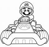 Mario Coloring Kart Super Boys Sheets Arcade Brothers sketch template