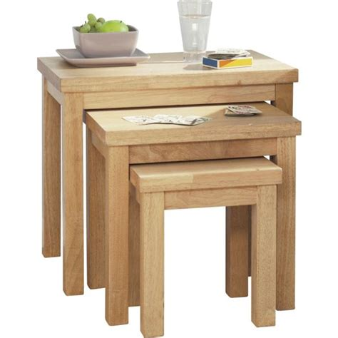 buy home gloucester nest of 3 tables solid wood at argos