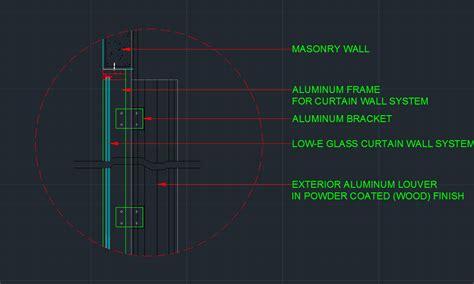 wall detail plus curtain wall detail cad files dwg