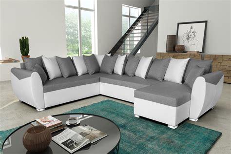 canapé blanc gris canape angle gris blanc idées de décoration intérieure