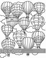 Coloring Air Adults Printable Pdf Balloon Balloons Pages Adult Sheet Books Easy Colouring Sheets Grown Ups Cartoon Digital Etsy Instant sketch template