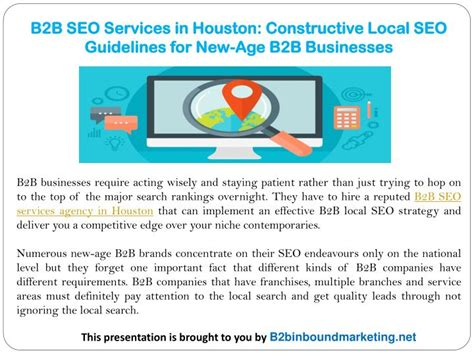 Seo Guidelines - ppt b2b seo services in houston constructive local seo