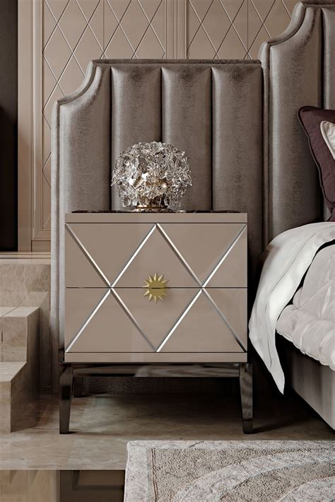 Welcome To The New Home Designing by Deco Inspired Italian Designer Lacquered Bedside