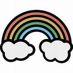 Rainbow Icon Cloud Round Spectrum Icons Sky