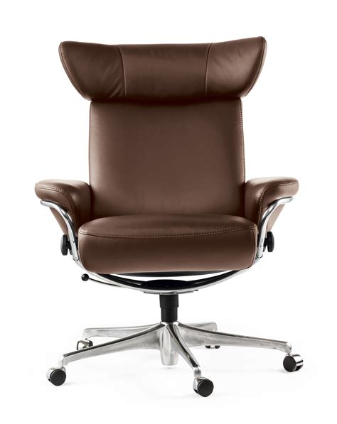 fauteuil de bureau design marron stressless