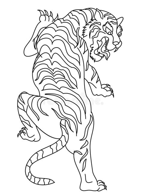 Japanese Tiger Tattoo Design Vector Stock Vector - Illustration of drawn, background: 99548951