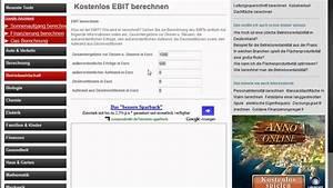 Ebit Berechnen : kostenlos ebit berechnen youtube ~ Themetempest.com Abrechnung