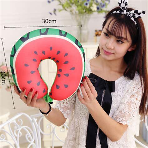 fruit pattern pillow home neck support headrest