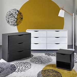 Meuble Bas Chambre : cool commodes blanche noire with meubles bas chambre ~ Teatrodelosmanantiales.com Idées de Décoration