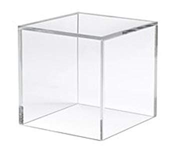 glass cube display 6 quot clear display cube industrial scientific 1226