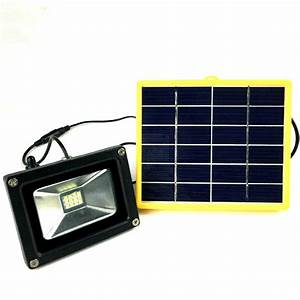 Battery powered portable floodlights : Waterproof w solar powered outdoor led floodlight