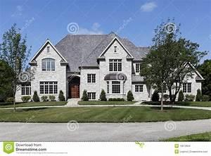 grande maison blanche et grise images stock image 13672654 With maison grise et blanche