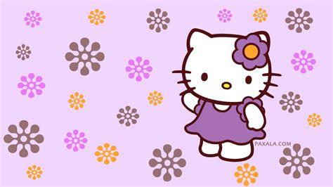 Hello Kitty Wall Paper Wallpapers Hello Kitty Flores Moradas