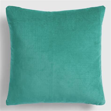 teal throw pillows teal velvet throw pillow world market