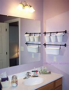 Bathroom storage towel hairbow and more for little one for Where to put towel bar in small bathroom