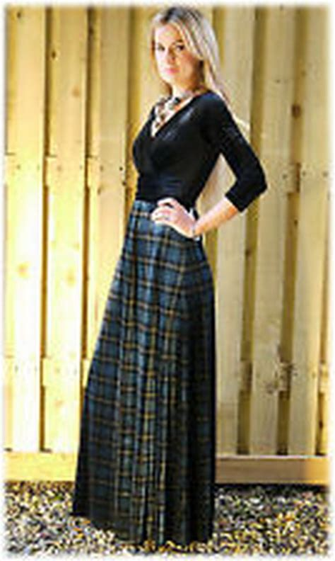 tartan evening dresses