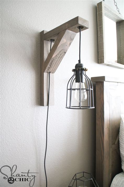 diy corbel sconce light   shanty  chic