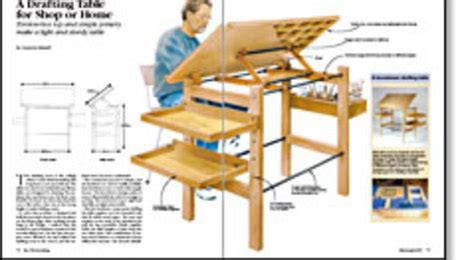 drafting table  shop  home finewoodworking